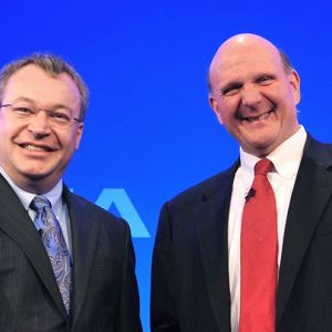 Nokian Stephen Elop ja Microsoftin Steve Ballmer