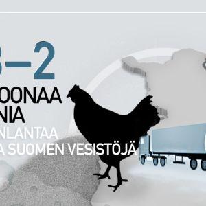 2 miljoonaa tonnia kananlantaa uhkaa Suomen vesistöjä