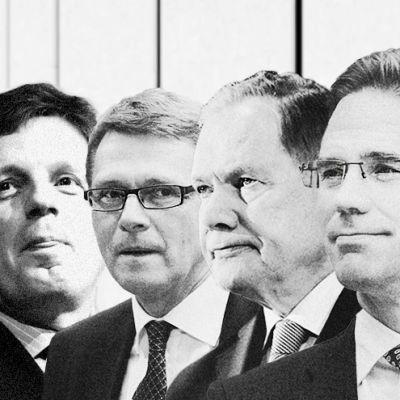 Esko Aho, Matti Vanhanen, Paavo Lipponen, Jyrki Katainen