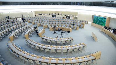 Mötesrummet för FN:s råd för mänskliga rättigheter.