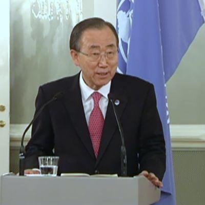 YK:n pääsihteerin Ban Ki-moon.
