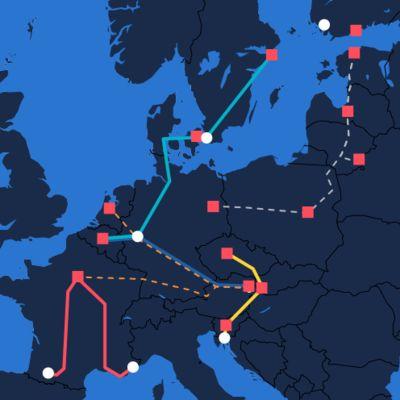 Uudet yöjunat Euroopassa
