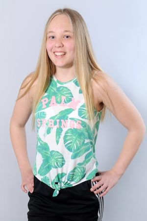 Smilla Påvall, hon är finalist i MGP.