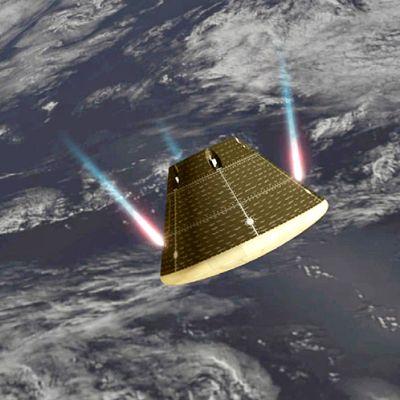 Kuvitteellinen kuva Orion-kapselista.