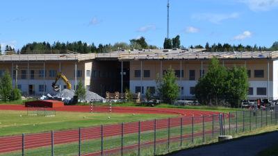 Här byggs skolcentrumet i Sjundeå.