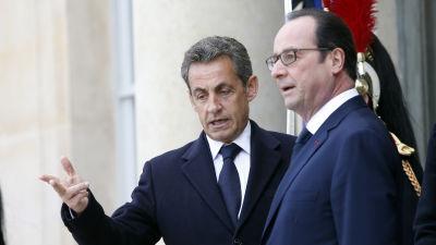 Nicolas Sarkozy och Francois Hollande