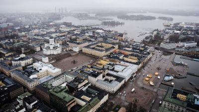 Flygfotografi av Senatstorget maj 2021.