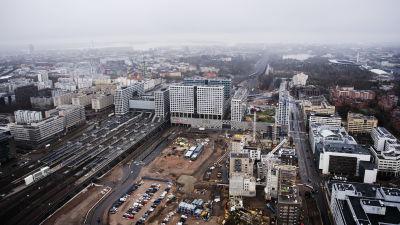 Flygfotografi av Böle station maj 2021.