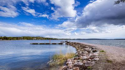 Klobbens badstrand i Sökö i Esbo.