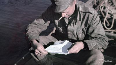 Kirje kotoa. Kuvattu 13-21.7.1942.