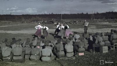 Sortavalan seminaarin viihdytyskiertue, Syväri. Voimalaitoksen lohko toukokuussa 1943.
