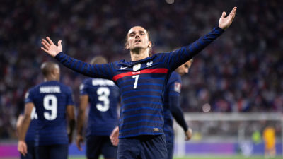 Antoine Griezmann firar mål.