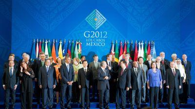 Gruppfoto av G20-ledarna i Mexiko 18.06.12