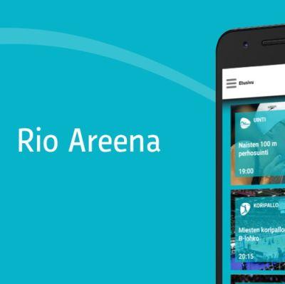 markkinoinnin kuva Rio Areena sovelluksesta