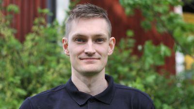 Porträtt av Emil Hästbacka.
