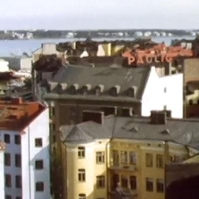 Maisemakuva Helsingin Katajanokalta (1980)