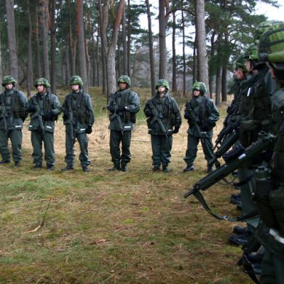 Ruotsalaisia sotilaita.