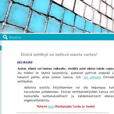 Kuva Etsivän nettityön sivuista.