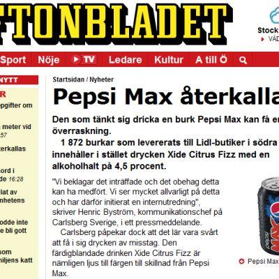 uutinen Pepsistä lehdessä