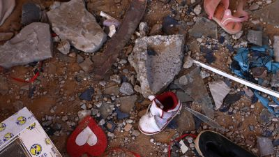 Ruiner efter bombningar i Gaza. 21.5.2021