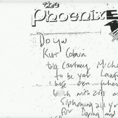 Kurt Cobainin kirjoittama lappu