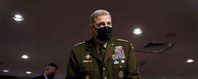 General Mark Milley förhördes av kongressen den 28 september 2021.