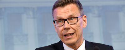 Överdirektör Mikko Spolander på Finansministeriet under en presskonferens i Helsingfors den 16 juni 2020