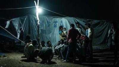 Människor som flytt från Tigray till Sudan. Över 45 000 människor har flytt från Etiopien sedan november 2020 då premiärminister Abiy Ahmed gav militären order om attack mot TPLF-styrkor