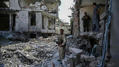 Dagen efter en bombexplosion i Kabul. 4.8.2021