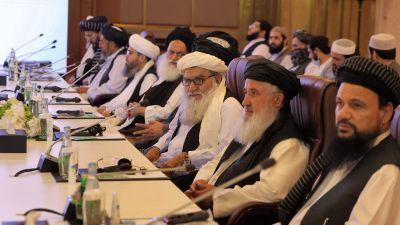 Fredsförhadlingar mellan den afghanska regeringen och talibanerna den 18 juli i Qatars huvudstadDoha.l