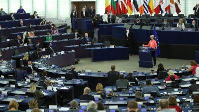 Ursula von der Leyen talar inför EU-parlamentet 15.9.2021