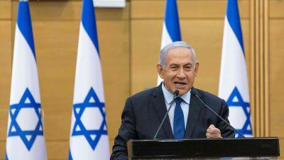 Premiärminister Benjamin Netnyahu talar i knesset 31.55.2021