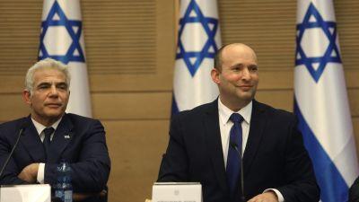 Yair Lapid och Naftali Bennett ska leda Israel. Knesset 13.6.2021