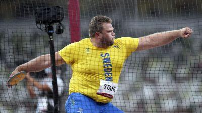 Daniel Ståhl kastar i OS.