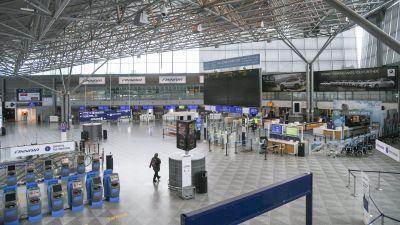 Incheckningsentrén på Helsingfors-Vanda flygplats.