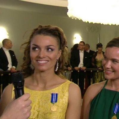 Silja Lehtinen, Silja Kanerva ja Mikaela Wulff haastattelussa.