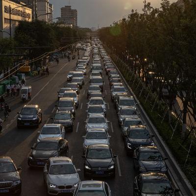 Trafikstockning i Beijing.