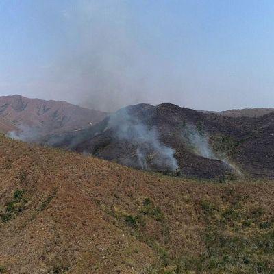 Tulipaloja Mato Grosson alueella Brasiliassa.