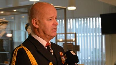 Marinens kommendör Veijo Taipalus, december 2015