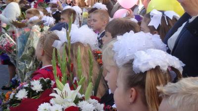 Första skoldagen i Moskva år 2016