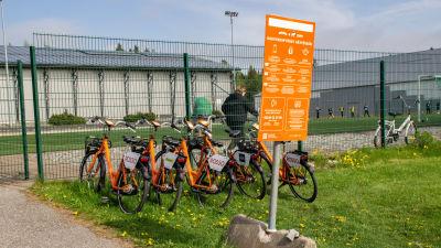 Orange cyklar.