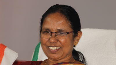 Hälsominister K. K. Shailaja i den indiska delstaten Kerala.