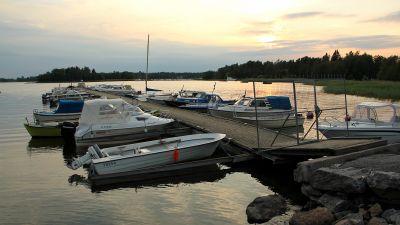 Småbåtsplatser i Storviken i Vasa.