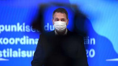 Jan Vapaavuori under presskonferens 27.11.2020.