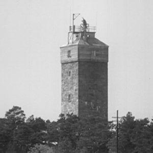 Merkinanto- ja tähystystorni Puokki Haapasaaressa vuonna 1964.