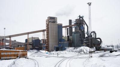 Masugnen vid Luleå stålverk.