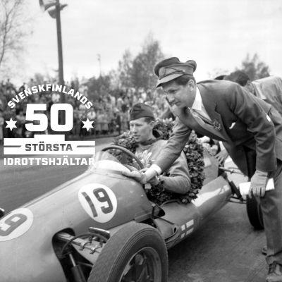 Curt Lincoln efter seger i Djurgårdsloppet 1953.