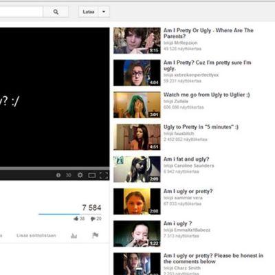 """""""Olenko ruma?"""". Kuvakaappaus YouTube-kanavalla julkaistusta videosta."""