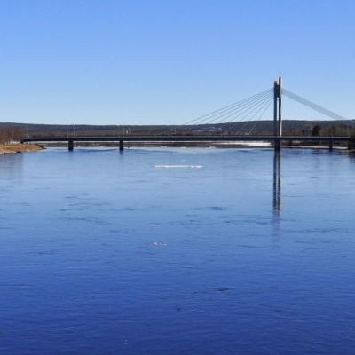 Kemijoki Rovaniemen keskustassa