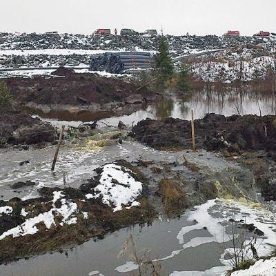 Talvivaara gruvan vinter